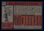 1974 Topps #113  Bill Bradley  Back Thumbnail
