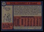 1974 Topps #133  Don Chaney  Back Thumbnail