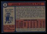 1974 Topps #66  John Johnson  Back Thumbnail