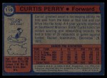 1974 Topps #119  Curtis Perry  Back Thumbnail
