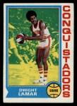 1974 Topps #177  Dwight Lamar  Front Thumbnail