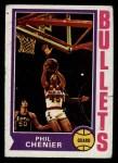 1974 Topps #165  Phil Chenier  Front Thumbnail