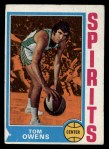 1974 Topps #256  Tom Owens  Front Thumbnail