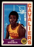 1974 Topps #134  Jim Brewer  Front Thumbnail