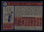 1974 Topps #67  Butch Beard  Back Thumbnail