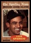 1962 Topps #469   -  Luis Aparicio All-Star Front Thumbnail