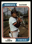 1974 Topps #50  Rod Carew  Front Thumbnail
