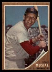 1962 Topps #50  Stan Musial  Front Thumbnail