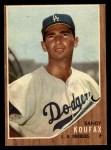 1962 Topps #5  Sandy Koufax  Front Thumbnail