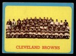 1963 Topps #24   Browns Team Front Thumbnail