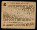 1938 Gum Inc. Horrors of War #52   Chinese Use Gas in Counteroffensive Back Thumbnail