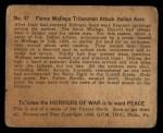 1938 Gum Inc. Horrors of War #47   Fierce Wallega Tribesmen Attack Italian Aces Back Thumbnail