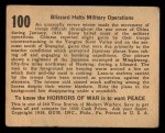 1938 Gum Inc. Horrors of War #100   Blizzard Halts Military Operations Back Thumbnail