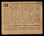 1938 Gum Inc. Horrors of War #139   Franco Retakes Teruel in Bloody Night Battle Back Thumbnail