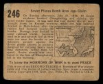 1938 Gum Inc. Horrors of War #246   Soviet Planes Bomb Area Japs Claim Back Thumbnail