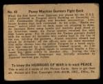 1938 Gum Inc. Horrors of War #40   Panay Machine Gunners Fight Back Back Thumbnail