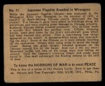1938 Gum Inc. Horrors of War #11   Japanese Flagship Assailed in Whangpoo Back Thumbnail