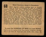 1938 Gum Inc. Horrors of War #68   Rebel Howitzers Attack in Snowstorm Back Thumbnail