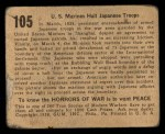 1938 Gum Inc. Horrors of War #105   U.S. Marines Halt Japanese Troops Back Thumbnail