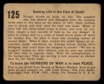 1938 Gum Inc. Horrors of War #125   Seeking Life in the Face of Death Back Thumbnail