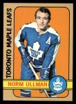 1972 Topps #168  Norm Ullman  Front Thumbnail