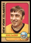 1972 Topps #144  Denis DeJordy  Front Thumbnail