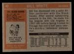 1972 Topps #40  Bill White  Back Thumbnail