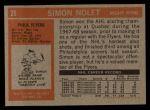 1972 Topps #26  Simon Nolet  Back Thumbnail