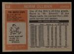 1972 Topps #168  Norm Ullman  Back Thumbnail