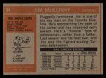 1972 Topps #54  Jim McKenny  Back Thumbnail