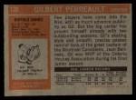 1972 Topps #120  Gilbert Perreault  Back Thumbnail
