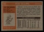 1972 Topps #149  Rod Seiling  Back Thumbnail