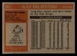 1972 Topps #141  Alex Delvecchio  Back Thumbnail