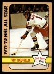 1972 Topps #132  Vic Hadfield  Front Thumbnail