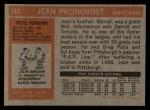 1972 Topps #143  Jean Pronovost  Back Thumbnail