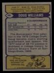 1979 Topps #48  Doug Williams  Back Thumbnail