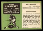 1970 Topps #37  Ross Lonsberry  Back Thumbnail