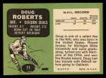 1970 Topps #71  Doug Roberts  Back Thumbnail