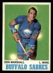 1970 Topps #129  Don Marshall  Front Thumbnail