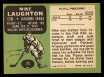 1970 Topps #74  Mike Laughton  Back Thumbnail