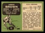 1970 Topps #66  Arnie Brown  Back Thumbnail