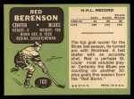 1970 Topps #103  Red Berenson  Back Thumbnail
