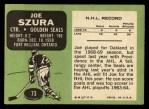 1970 Topps #73  Joe Szura  Back Thumbnail