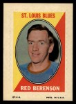 1970 Topps O-Pee-Chee Sticker Stamps #2  Red Berenson  Front Thumbnail