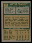 1971 Topps #127  Wayne Connelly  Back Thumbnail