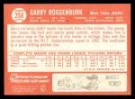 1964 Topps #258  Garry Roggenburk  Back Thumbnail