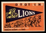 1959 Topps #139   Lions Pennant Front Thumbnail