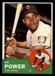 1963 Topps #40 *BLU* Vic Power  Front Thumbnail