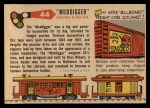 1955 Topps Rails & Sails #44   Muddigger Back Thumbnail