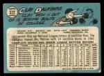 1965 Topps #372  Clay Dalrymple  Back Thumbnail